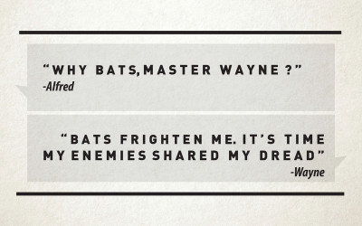 Why Bats, Master Wayne? By Emily Rule