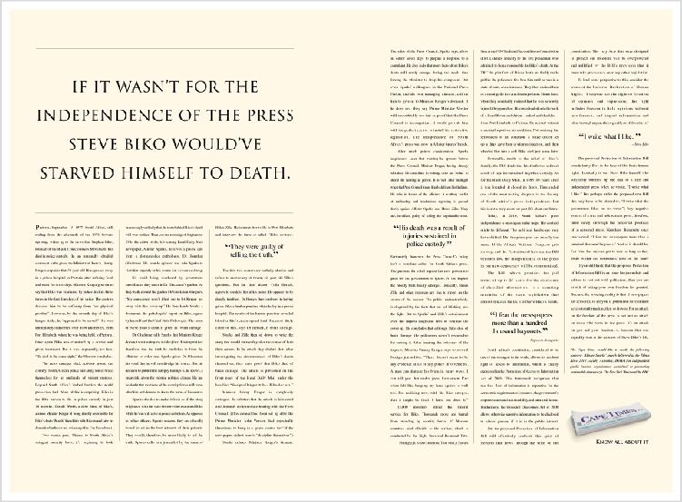 Cape Times – 'Biko' Print Campaign
