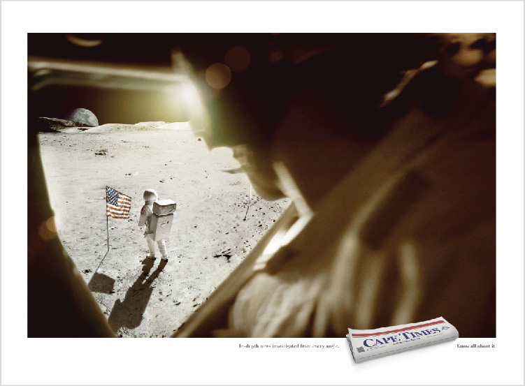 Cape Times – 'Moon' Print Campaign