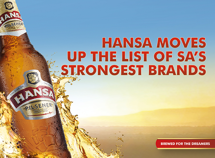 Hansa moves up the list of SA's strongest brands