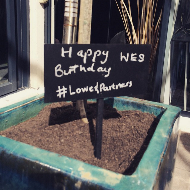 We celebrate our much loved colleague, Wes's birthday. Friend, family and football hooligan.